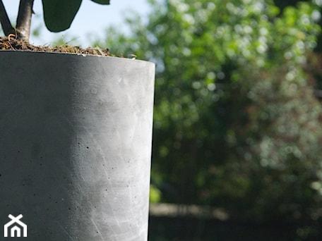 """Aranżacje wnętrz - Taras: Doniczka z betonu 'Felippe"""" - Rausch Beton. Przeglądaj, dodawaj i zapisuj najlepsze zdjęcia, pomysły i inspiracje designerskie. W bazie mamy już prawie milion fotografii!"""