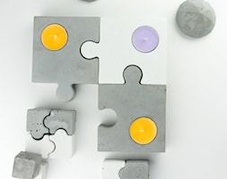 """Komplet świeczników z betonu """"puzzle dazzle"""" - zdjęcie od Rausch Beton - Homebook"""