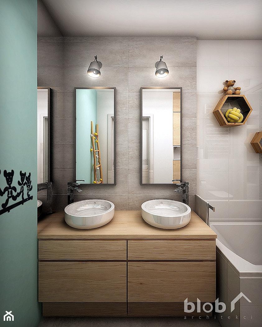 Aranżacja łazienki dla dzieci - Łazienka, styl nowoczesny - zdjęcie od BLOB architekci - Homebook