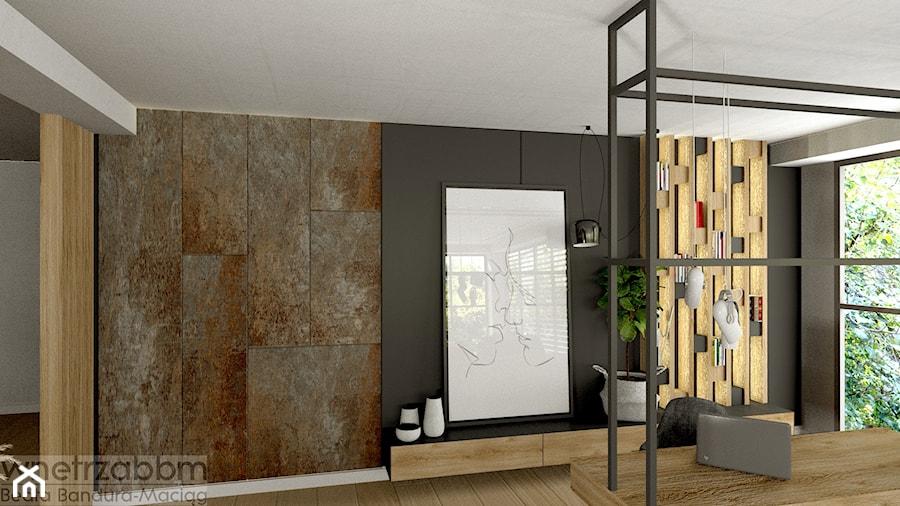 salon z miejscem do pracy - zdjęcie od Pracownia Projektowa WnętrzaBBM