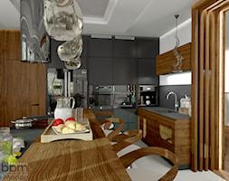 przestronna kuchnia z bufetem - zdjęcie od Pracownia Projektowa WnętrzaBBM - Homebook