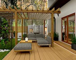 Przydomowe patio - Taras, styl skandynawski - zdjęcie od Pracownia Projektowa WnętrzaBBM - Homebook