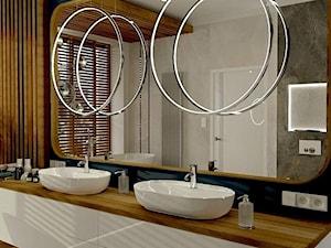 Spora łazienka w łódzkim apartamentowcu