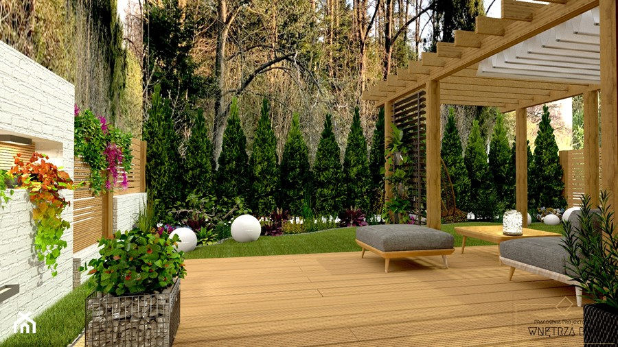 Przydomowe patio - Taras, styl nowoczesny - zdjęcie od Pracownia Projektowa WnętrzaBBM