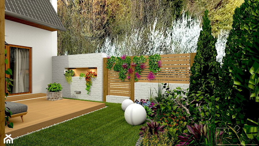 Przydomowe patio - Taras - zdjęcie od Pracownia Projektowa WnętrzaBBM