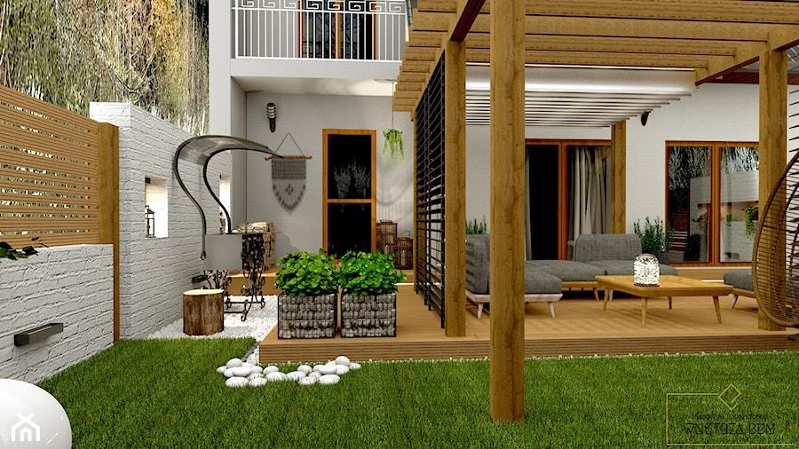 Przydomowe patio - Taras, styl tradycyjny - zdjęcie od Pracownia Projektowa WnętrzaBBM