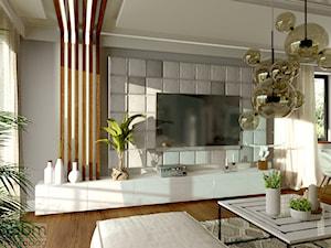 Salon z otwartą kuchnią- dom