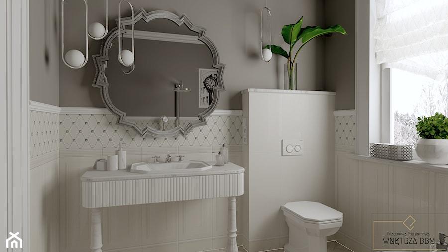 Biała łazienka w angielskim stylu - Łazienka, styl klasyczny - zdjęcie od Pracownia Projektowa WnętrzaBBM