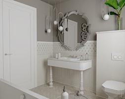 Biała łazienka w angielskim stylu - Łazienka, styl klasyczny - zdjęcie od Pracownia Projektowa WnętrzaBBM - Homebook