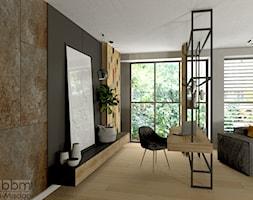 salon z miejscem do pracy - zdjęcie od Pracownia Projektowa WnętrzaBBM - Homebook