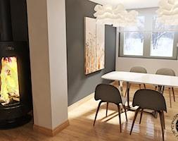 Aranżacja salonu z jadalnią - Jadalnia, styl nowoczesny - zdjęcie od KZPA - Homebook