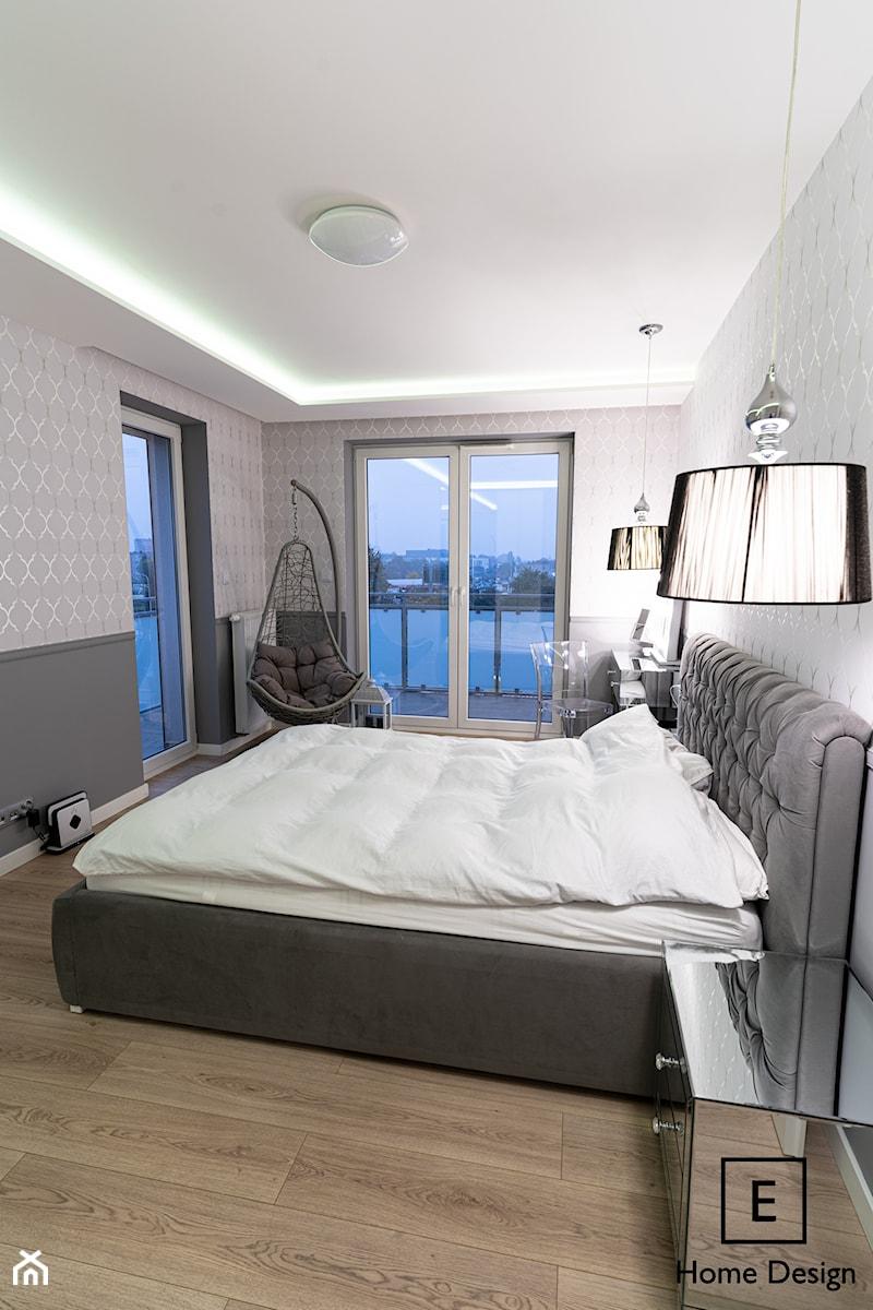 Mieszkanie w stylu glamour w Kaliszu - Sypialnia, styl glamour - zdjęcie od E Home Design