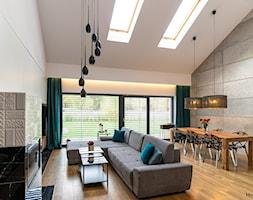 Dom nad zalewem Murowaniec - 130 m2 - Salon, styl nowoczesny - zdjęcie od E Home Design - Homebook
