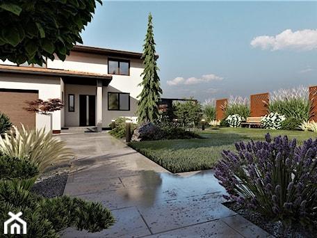 Aranżacje wnętrz - Ogród: OGRÓD RODZINNY - Ogród, styl minimalistyczny - Pracownia Projektowa Piórkowski  Projektowanie ogrodów | wnętrz. Przeglądaj, dodawaj i zapisuj najlepsze zdjęcia, pomysły i inspiracje designerskie. W bazie mamy już prawie milion fotografii!