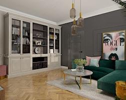 Salon | projekt Duszyńska Design - zdjęcie od Hania Duszyńska - Homebook