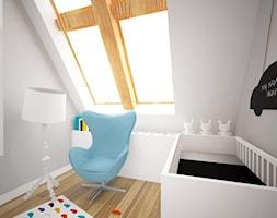 _ Świebodzin 00 - Mały biały pokój dziecka dla chłopca dla niemowlaka dla malucha - zdjęcie od w n ę t r z a r k i