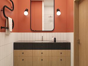72, GIEŁDOWA - Średnia biała łazienka bez okna, styl vintage - zdjęcie od DZIURDZIAprojekt