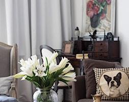 90m, Ochota, Wwa - Mała biała jadalnia jako osobne pomieszczenie, styl glamour - zdjęcie od DZIURDZIAprojekt