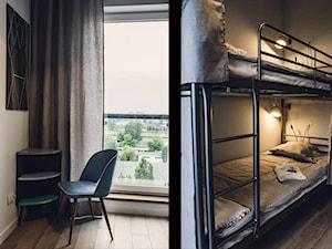 Mały szary pokój dziecka dla chłopca dla dziewczynki dla rodzeństwa dla nastolatka, styl vintage - zdjęcie od DZIURDZIAprojekt