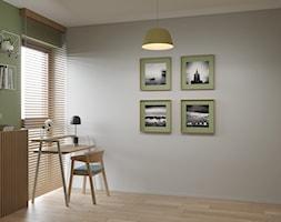 Wólczyńska 72 m, - Mały szary zielony pokój dziecka dla chłopca dla ucznia dla nastolatka, styl skandynawski - zdjęcie od DZIURDZIAprojekt