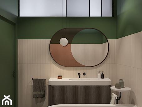 Aranżacje wnętrz - Łazienka: 114, wilcza - Mała biała zielona łazienka w bloku w domu jednorodzinnym bez okna, styl vintage - DZIURDZIAprojekt. Przeglądaj, dodawaj i zapisuj najlepsze zdjęcia, pomysły i inspiracje designerskie. W bazie mamy już prawie milion fotografii!