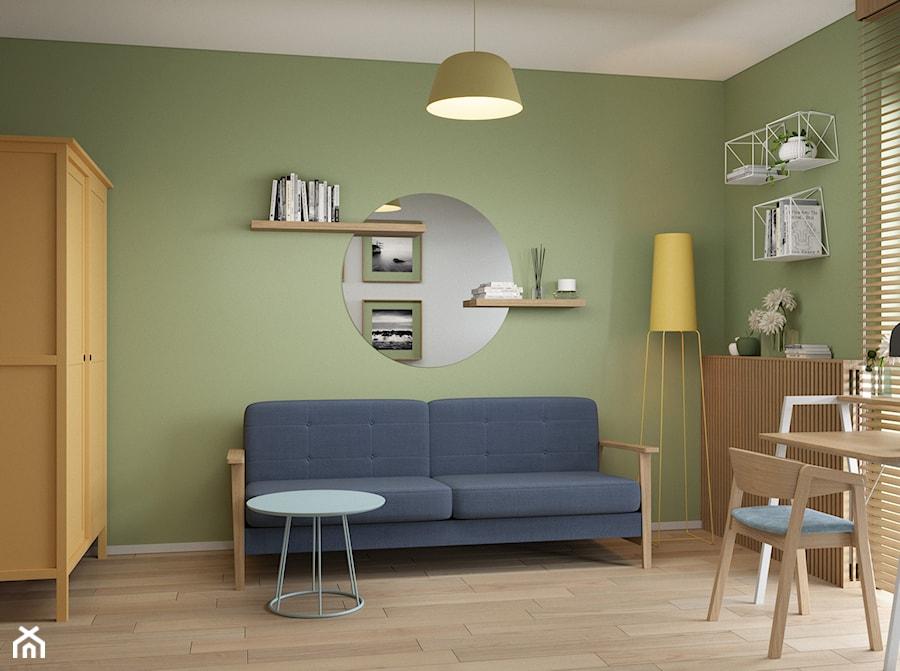 Wólczyńska 72 m, - Średni szary zielony pokój dziecka dla chłopca dla ucznia dla nastolatka, styl skandynawski - zdjęcie od DZIURDZIAprojekt