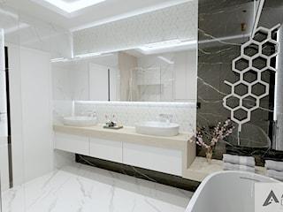 Łazienka w stylu nowoczesnego glamour
