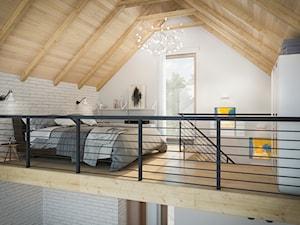 Sypialnia na antresoli w domu LIDO - zdjęcie od PRO ARTE Arkadiusz Woch, Krzysztof Biodrowicz