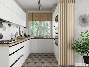 Biała kuchnia z lamelami - kolekcja Blanka