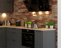 Szara kuchnia z elegancką ramką - kolekcja Navia - Kuchnia, styl klasyczny - zdjęcie od Fabryka Mebli Layman - Homebook