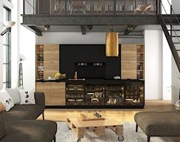 Loftowa kuchnia czarno - drewniana - zdjęcie od Fabryka Mebli Layman - Homebook