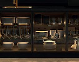 Wyspa kuchenna z eleganckimi witrynami - zdjęcie od Fabryka Mebli Layman - Homebook