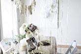 sylwestrowe dekoracje w odcieniach bieli