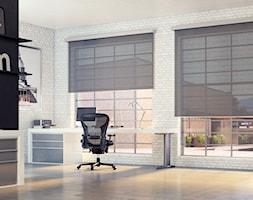 CUBE System - Duże czarne białe biuro domowe w pokoju - zdjęcie od Vidella