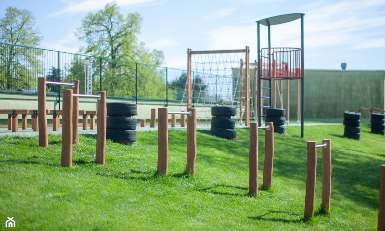 strefa fitness w ogrodzie