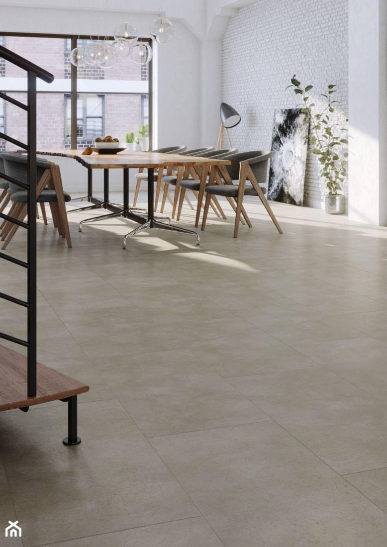 Aranżacje wnętrz - Jadalnia: Panele winylowe na ogrzewanie podłogowe - Jadalnia, styl industrialny - ARBITON FloorExpert. Przeglądaj, dodawaj i zapisuj najlepsze zdjęcia, pomysły i inspiracje designerskie. W bazie mamy już prawie milion fotografii!