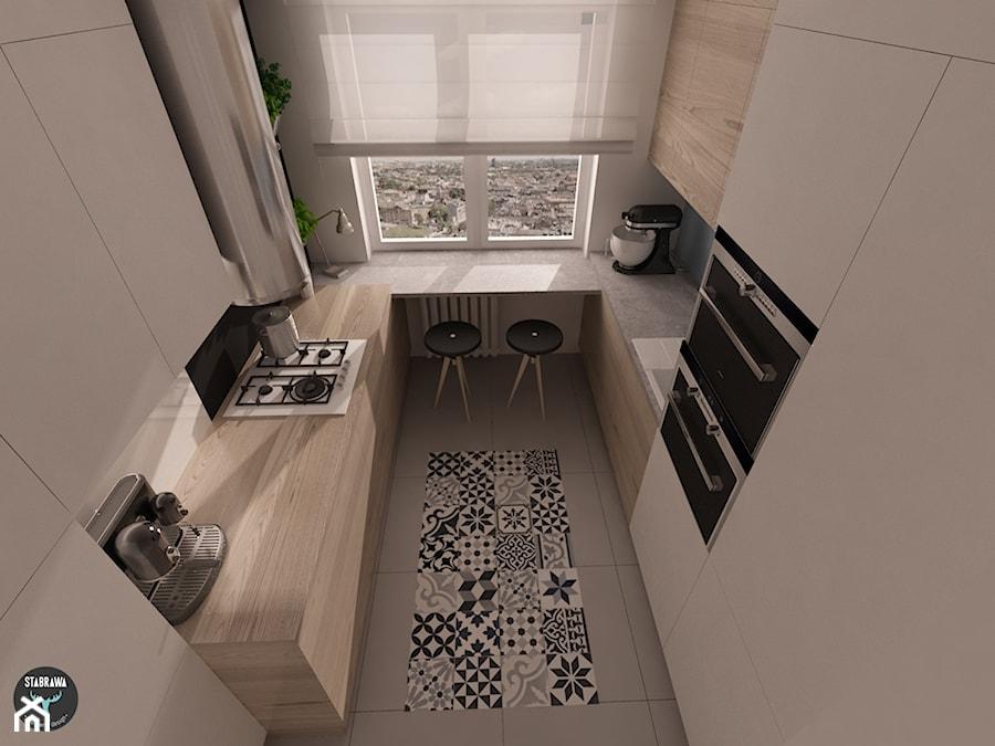 Mieszkanie z patchworkiem w Krakowie Kuchnia