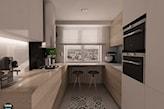 blat kuchenny przy oknie w małej kuchni