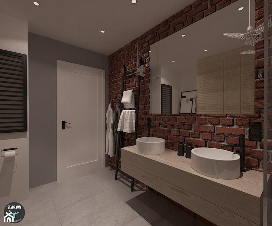 łazienka Mieszkanie W Stylu Loft łazienka Styl Nowoczesny