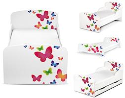 Drewniane łóżka z szufladą i materacem Motyle - zdjęcie od Leomark - Homebook