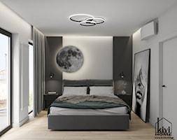projekt sypialni z motywem księżyca - zdjęcie od Kivi Home - projektowanie wnętrz - Homebook