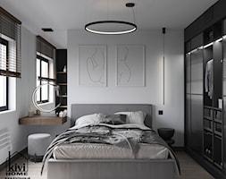 projekt sypialni z oryginalnymi rysunkami - zdjęcie od Kivi Home - projektowanie wnętrz - Homebook