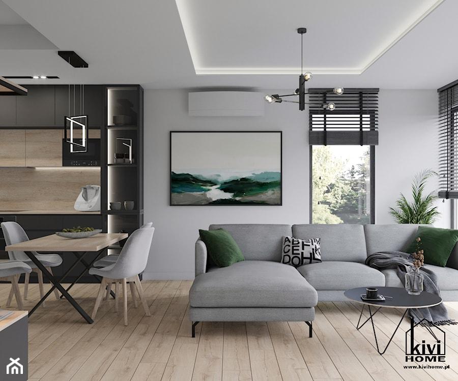 Salon - zdjęcie od Kivi Home - projektowanie wnętrz