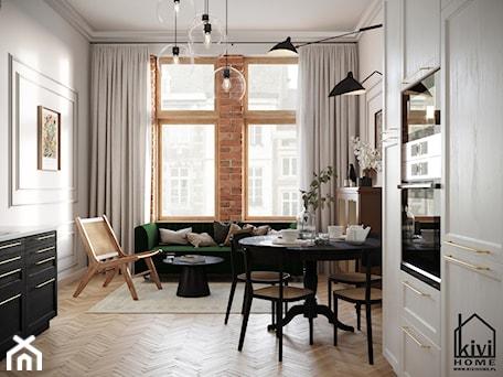 Aranżacje wnętrz - Salon: Salon w mieszkaniu w kamienicy - Kivi Home - projektowanie wnętrz. Przeglądaj, dodawaj i zapisuj najlepsze zdjęcia, pomysły i inspiracje designerskie. W bazie mamy już prawie milion fotografii!