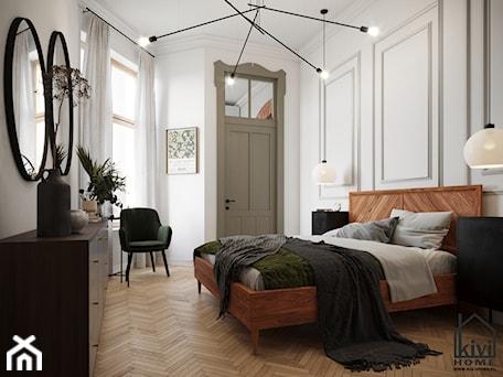 Aranżacje wnętrz - Sypialnia: Sypialnia w kamienicy - Kivi Home - projektowanie wnętrz. Przeglądaj, dodawaj i zapisuj najlepsze zdjęcia, pomysły i inspiracje designerskie. W bazie mamy już prawie milion fotografii!