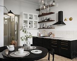 Kuchnia w mieszkaniu w kamienicy - Ikea - zdjęcie od Kivi Home - projektowanie wnętrz - Homebook