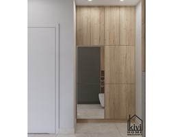 projekt pralki w zabudowie w łazience - zdjęcie od Kivi Home - projektowanie wnętrz - Homebook