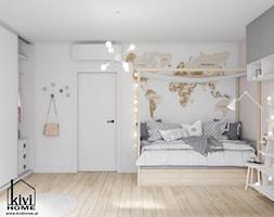 Pokój dziewczynki z motywem mapy świata - zdjęcie od Kivi Home - projektowanie wnętrz - Homebook