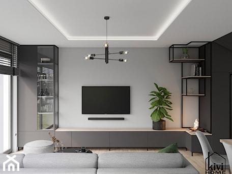 Aranżacje wnętrz - Salon: ściana tv w salonie - Kivi Home - projektowanie wnętrz. Przeglądaj, dodawaj i zapisuj najlepsze zdjęcia, pomysły i inspiracje designerskie. W bazie mamy już prawie milion fotografii!