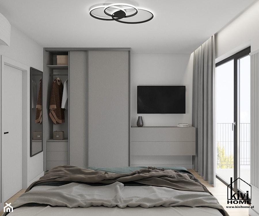 projekt sypialni z motywem księżyca - zdjęcie od Kivi Home - projektowanie wnętrz